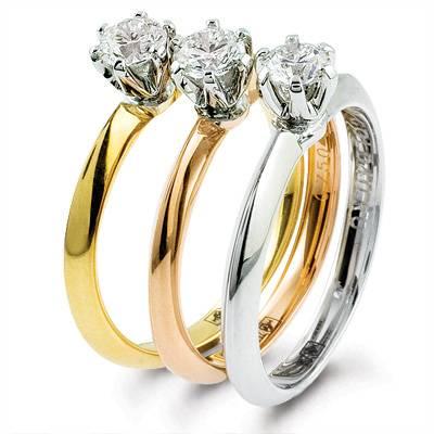 Золотые украшения разного цвета