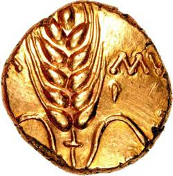 В древности монеты делали из чистого золота