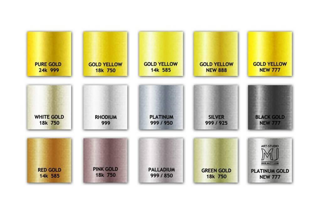 В зависимости от используемого в золотом украшении сплава, оно бывает разного цвета