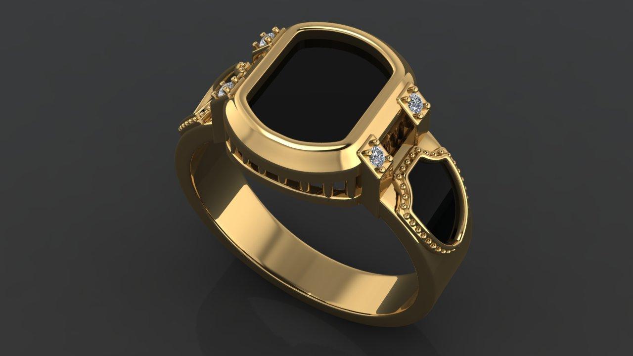 Современные мужские кольца