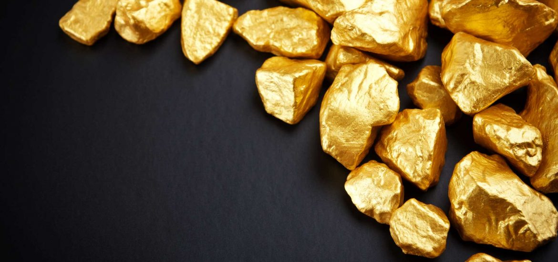 Золото в кусках