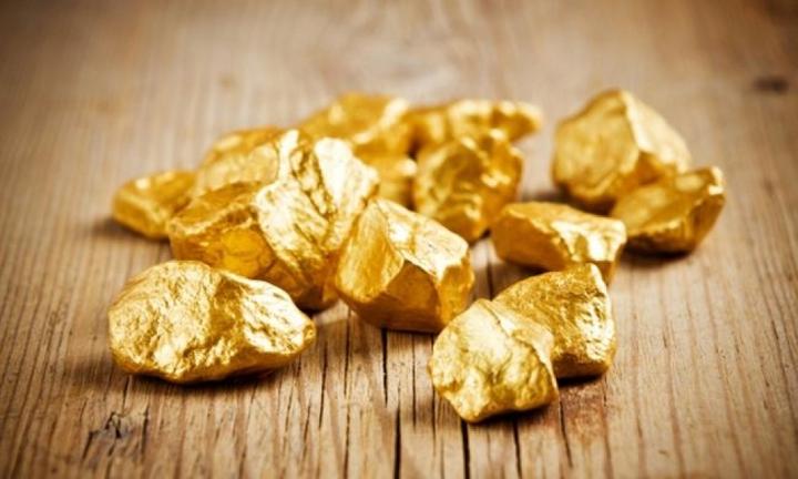 Кусочки найденного золота