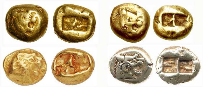 Стародавние монеты