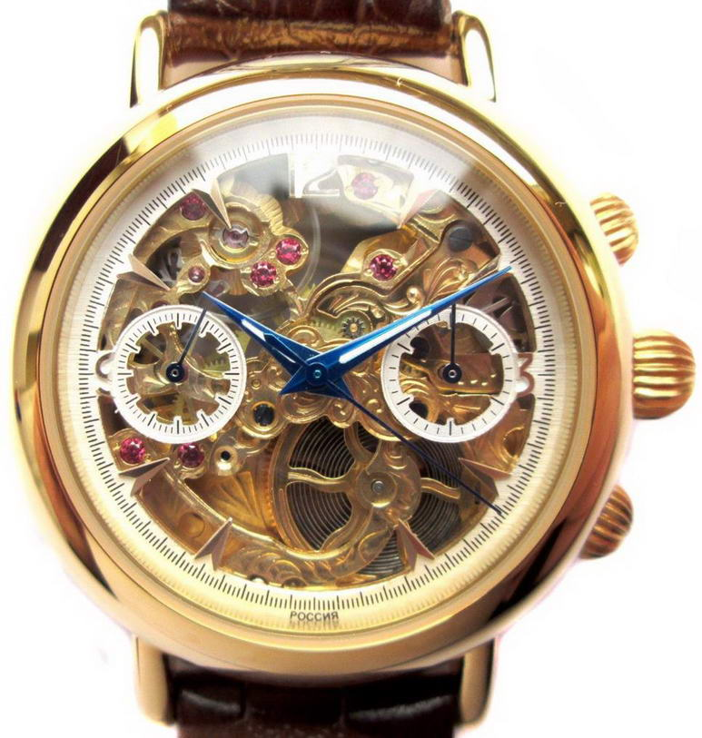 Часы Хронограф Полёт Скелетон