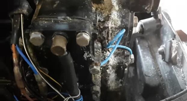 коррозия лодочного мотора